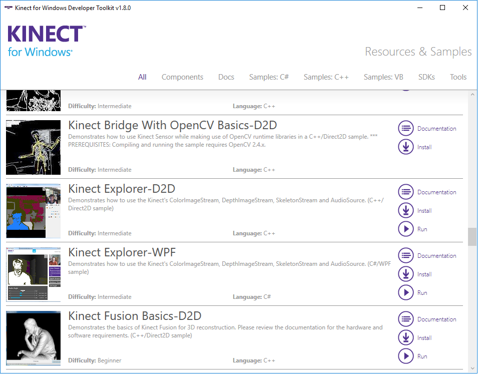 Kinect for Windows Developer Toolkit